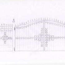 Ворота эскиз